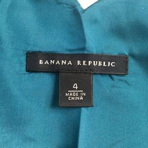 Banana Republic Dresses - Banana Republic Dress Cowl Neck Teal Gray SZ 4